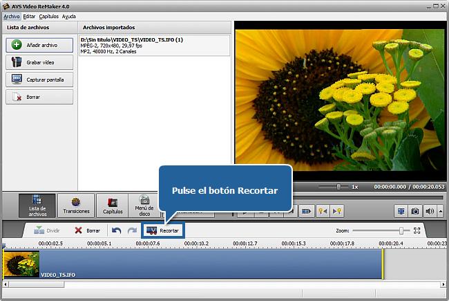 ¿Cómo editar un DVD de vídeo casero con AVS Video ReMaker? Paso 3