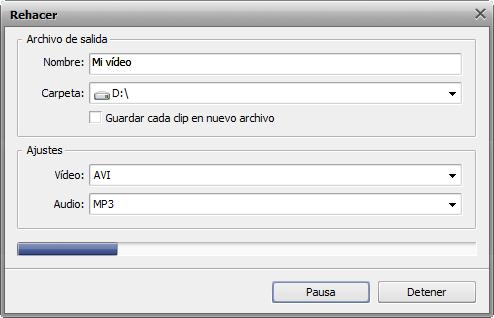 ¿Cómo unir varios ficheros de vídeo en uno? Paso 5