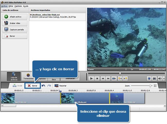 ¿Cómo cortar un archivo de vídeo utilizando AVS Video ReMaker? Paso 4