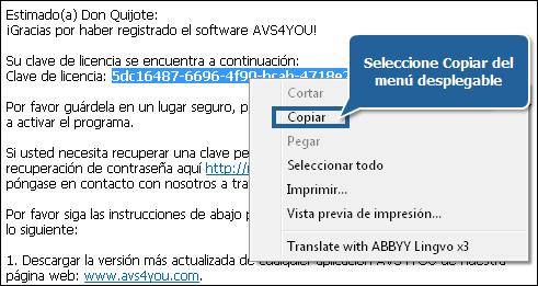 ¿Cómo activar el software AVS4YOU? Paso 3