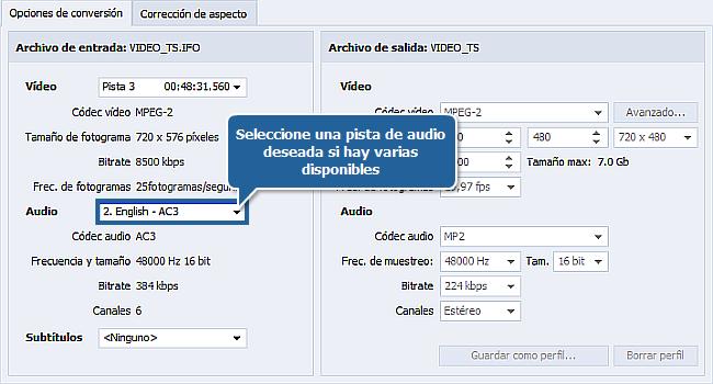 ¿Cómo extraer audio de un archivo de vídeo? Paso 3