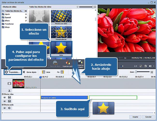 ¿Cómo aplicar un efecto a un archivo de vídeo y convertirlo a otro formato? Paso 4