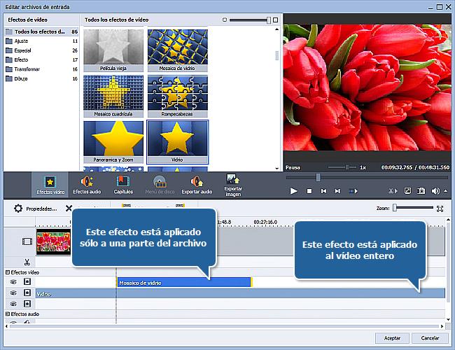 ¿Cómo aplicar un efecto a un archivo de vídeo y convertirlo a otro formato? Paso 5
