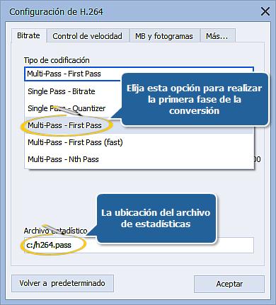 ¿Cómo realizar conversión a muchas pasadas con AVS Video Converter??