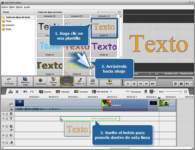 ¿Cómo añadir un título después del vídeo seleccionado en el Timeline? Paso 3