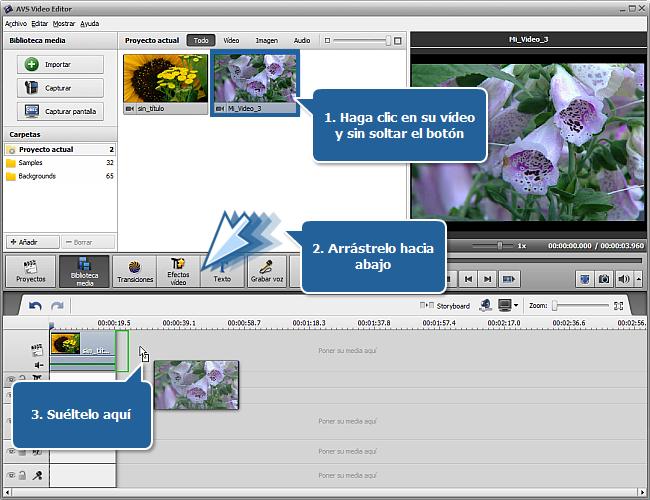¿Cómo empezar a trabajar con AVS Video Editor? Paso 3