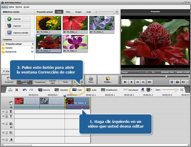 ¿Cómo mejorar vídeo demasiado oscuro con AVS Video Editor?  Paso 1