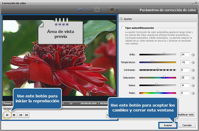¿Cómo mejorar vídeo demasiado oscuro con AVS Video Editor? Paso 3