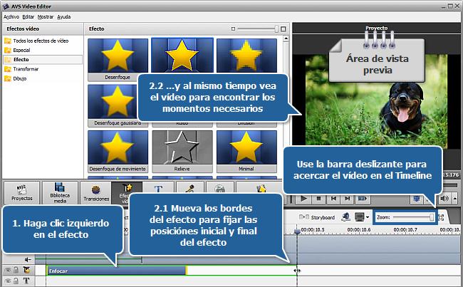 ¿Cómo restaurar vídeo desenfocado con AVS Video Editor? Paso 2
