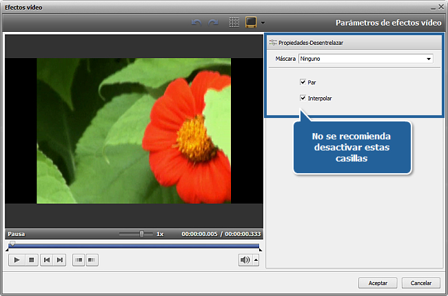 ¿Cómo eliminar efectos entrelazados del vídeo con AVS Video Editor? Paso 3