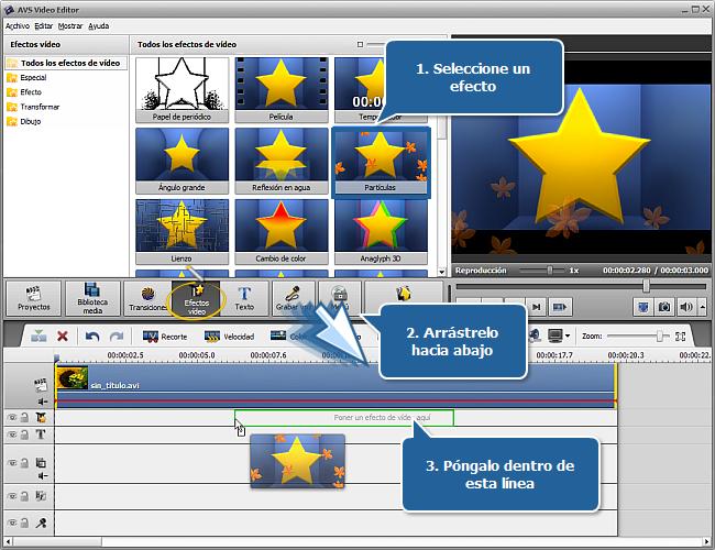 ¿Cómo aplicar efectos de vídeo en AVS Video Editor? Paso 1