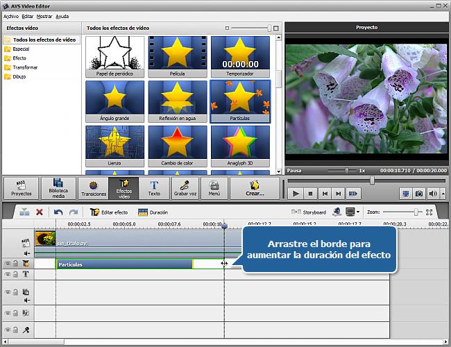 ¿Cómo aplicar efectos de vídeo en AVS Video Editor? Paso 3