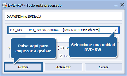 ¿Cómo grabar vídeo en DVD? Paso 7