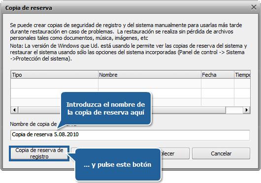 ¿Cómo hacer una copia de reserva y restablecer el registro con AVS Registry Cleaner? Paso 3