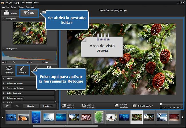 ¿Cómo clonar partes de una imagen usando la herramienta Retoque? paso 3