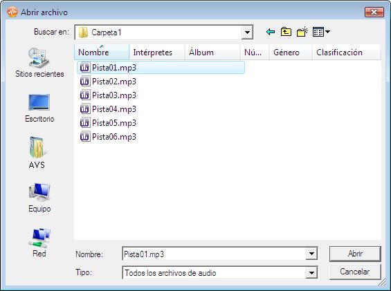 ¿Cómo unir varias pistas de audio en un solo archivo con AVS Audio Editor? Paso 2
