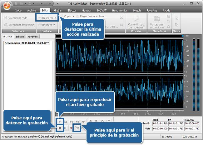 ¿Cómo grabar audio desde el micrófono? Paso 4