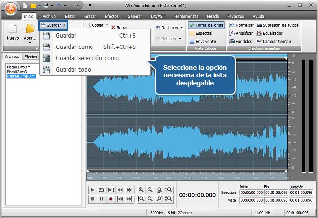 ¿Cómo normalizar el nivel de volumen para un grupo de pistas de audio? Paso 5