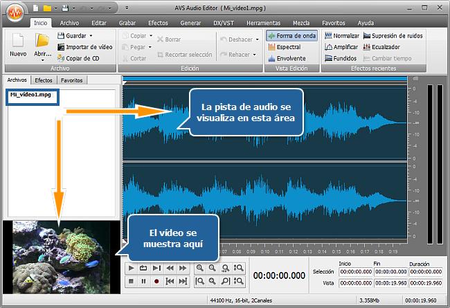 ¿Cómo editar la pista de audio de un vídeo aficionado? Paso 2