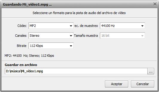 ¿Cómo editar la pista de audio de un vídeo aficionado? Paso 5