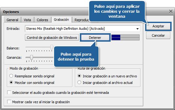 ¿Cómo grabar música con AVS Audio Editor? Paso 4