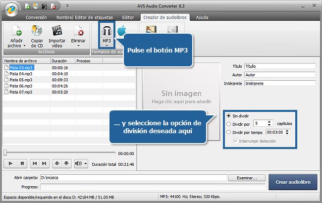 ¿Cómo crear audiolibros usando AVS Audio Converter? Paso 4
