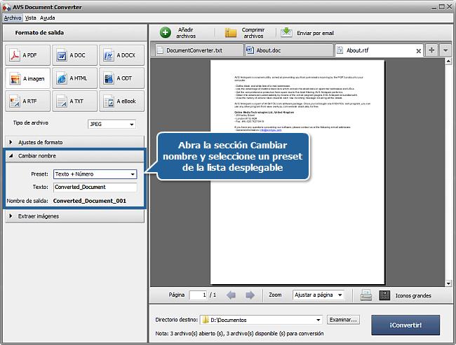 ¿Cómo convertir documentos? Paso 4