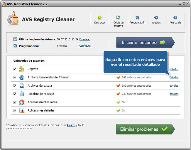 ¿Cómo reparar errores de PC con AVS Registry Cleaner? Paso 4