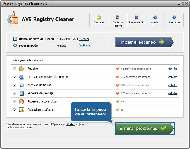 ¿Cómo reparar errores de PC con AVS Registry Cleaner? Paso 5