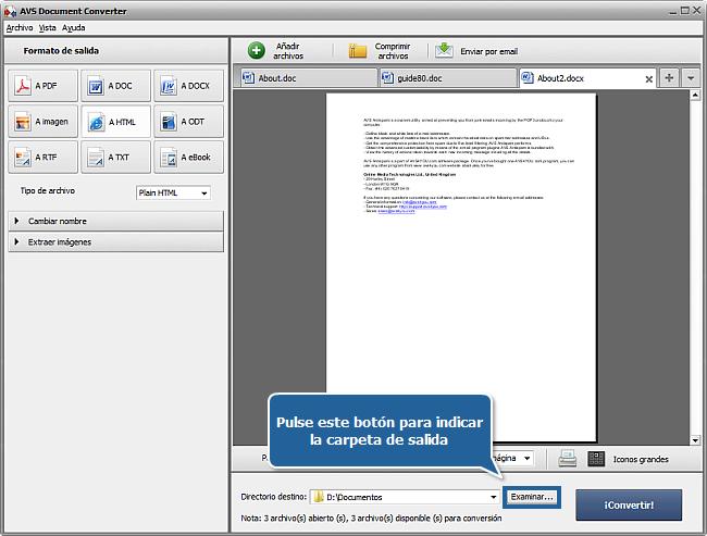 ¿Cómo convertir documentos al formato HTML? Paso 5
