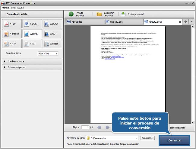 ¿Cómo convertir documentos al formato HTML? Paso 6