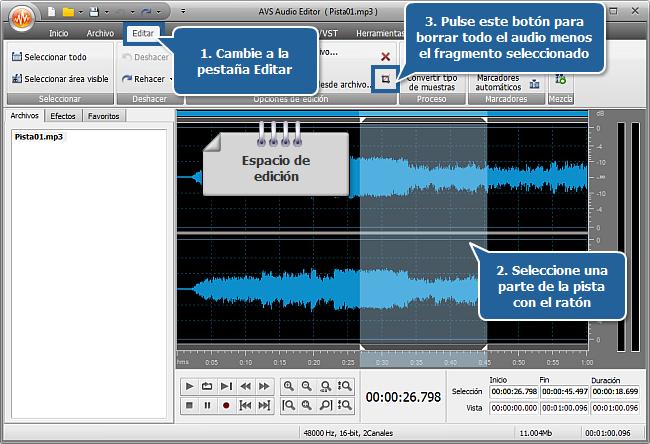 ¿Cómo crear un tono de llamada con AVS Audio Editor? Paso 3