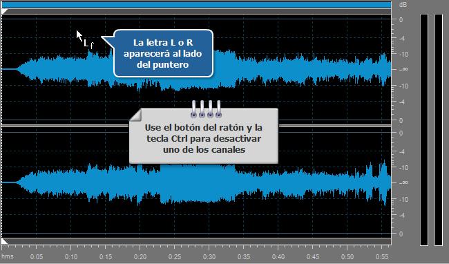 ¿Cómo editar los canales por separado con AVS Audio Editor? Paso 3