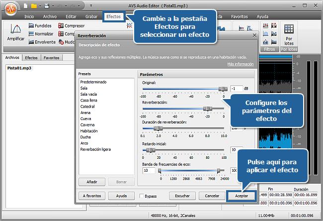 ¿Cómo editar los canales por separado con AVS Audio Editor? Paso 5