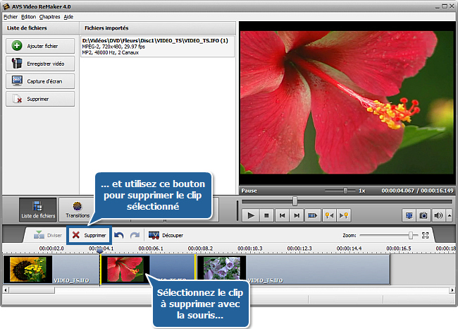 Comment traiter un DVD personnel en utilisant AVS Video ReMaker? Etape 4