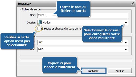 Comment fusionner plusieurs fichiers vidéo en un seul? Etape 5