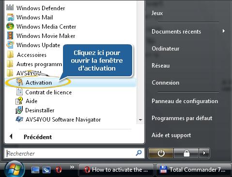 Comment activer les logiciels AVS4YOU? Etape 4