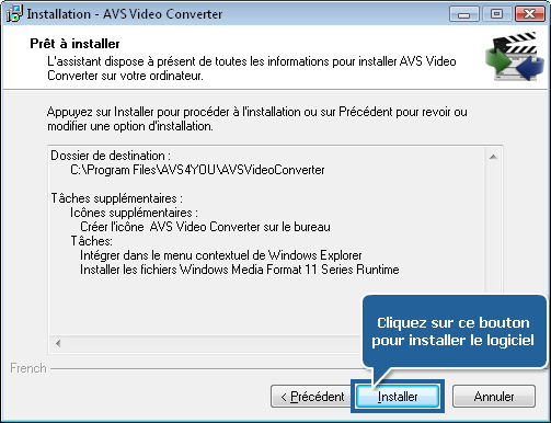 Comment télécharger et installer les logiciels AVS4YOU sur l'ordinateur? Etape 2