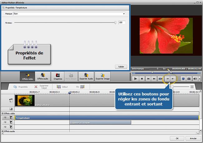 Comment appliquer un effet à une vidéo et la convertir dans un autre format? Etape 6