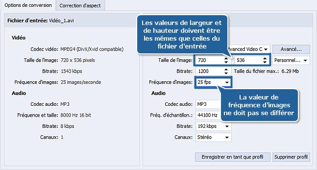Comment réduire la taille d'une vidéo source avec AVS Video Converter? Etape 4