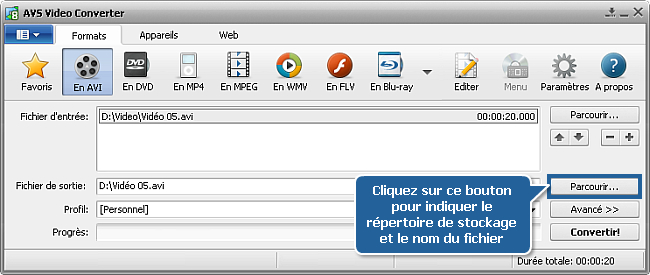 Comment effectuer la conversion à passages multiples avec AVS Video Converter? Etape 7