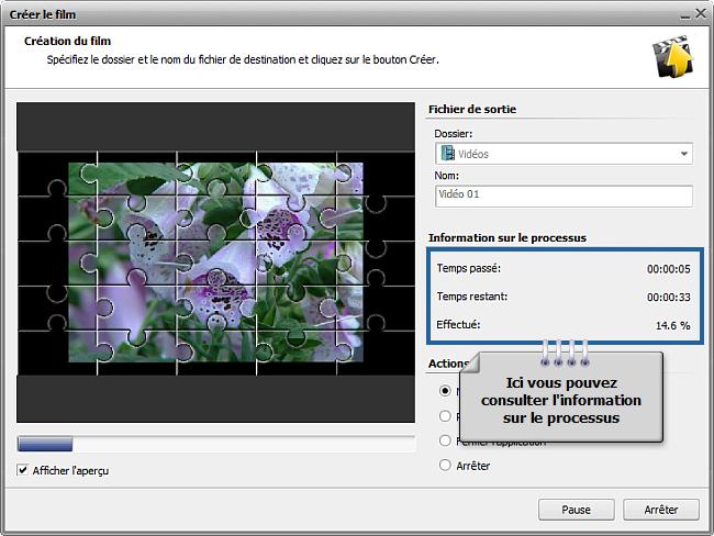 Comment enregistrer un projet et une vidéo dans AVS Video Editor? Etape 3