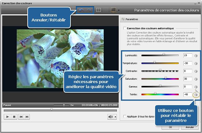 Comment corriger les couleurs d'une vidéo avec AVS Video Editor? Etape 2