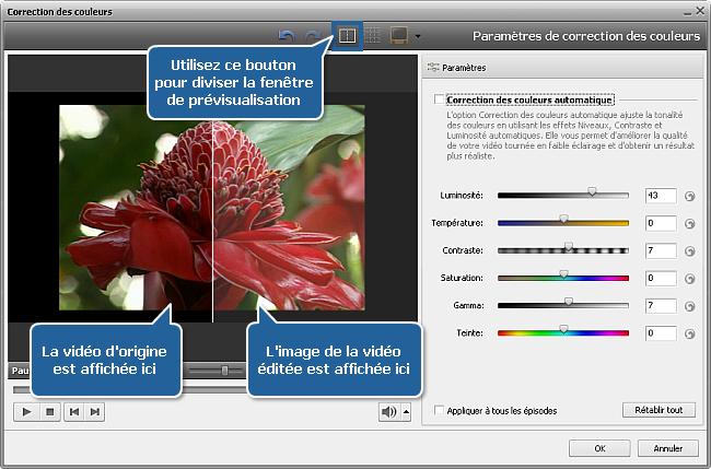 Comment éclaircir une vidéo sombre en utilisant AVS Video Editor? Etape 2