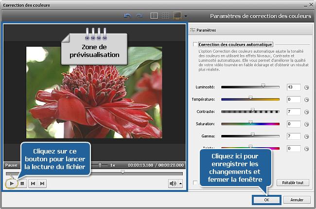 Comment éclaircir une vidéo sombre en utilisant AVS Video Editor? Etape 3