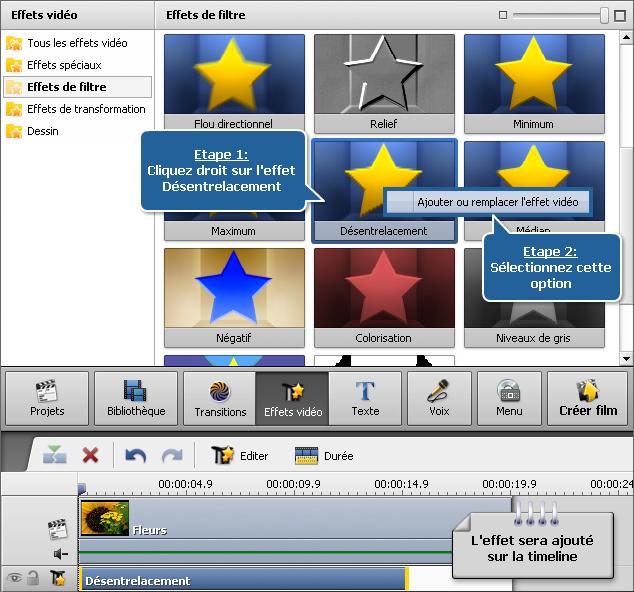 Comment éliminer des artefacts d'entrelacement en utilisant AVS Video Editor? Etape 1