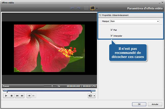 Comment éliminer des artefacts d'entrelacement en utilisant AVS Video Editor? Etape 3