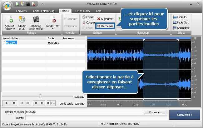 Comment extraire l'audio d'un fichier vidéo avec AVS Audio Converter? Etape 3