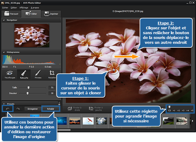 Comment cloner une partie de l'image en utilisant l'outil Retouche? Etape 3