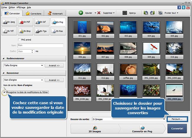 Comment convertir les images? Etape 5